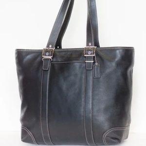 Coach 6491 Black Leather X-large Shopper Tote Bag
